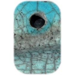 Bleu turquoise craquelé