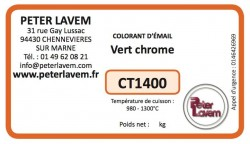 CT1400 - Colorant vert chrome