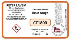 Colorant brun rouge