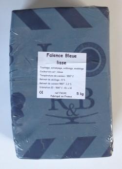 FA141 - Faïence bleue lisse