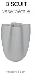 Biscuit - Vase Pétale 16 cm