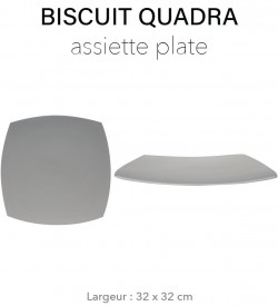 Biscuit Quadra - Plat carré...